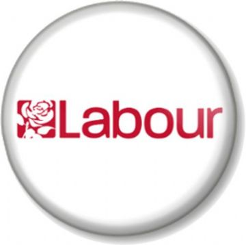 Labour Pinback Button Badge General Election Political Party Support Rose